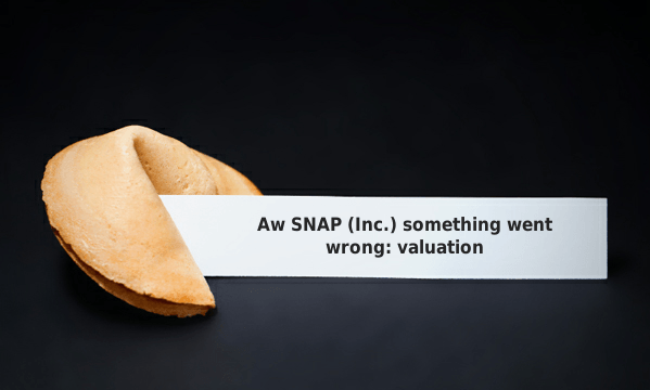 Aw SNAP something went wrong: valuation
